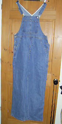 Blooming Marvellous Stonewashed Denim Maternity Dungarees Smart  Size 10   L30