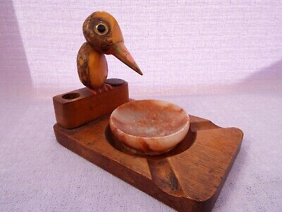 Vintage Novelty Match Holder / Striker / Ashtray