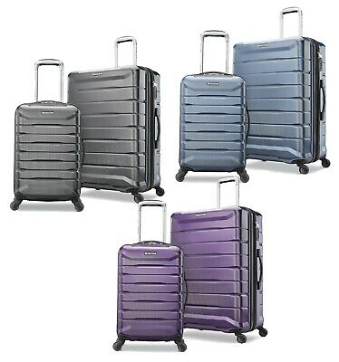 Samsonite 2 pc Hard Side Luggage Set 4 Spinner Wheel Suitcase Carry On