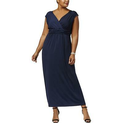 NY Collection Women's Plus Size Ruched Sleeveless Empire Maxi Dress