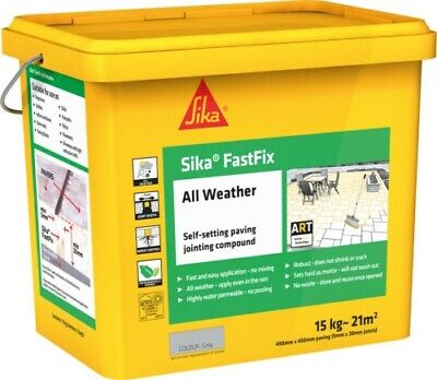Sika Fast Fix All Weather  Paving Jointing Compound Grey 14Kg