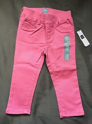 Baby Girl 18-24 Month Baby Gap Pink Pull On Banded Denim Jeans