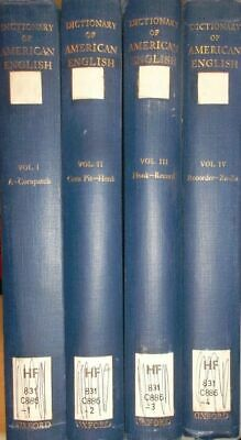 A Dictionary of American English on Historical Principles (4 vols.set/ 4 Bände K