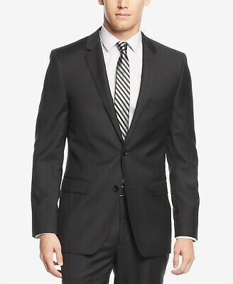 $525 DKNY Black Solid Extra-Slim-Fit Suit Jacket Mens 40S 40 NEW