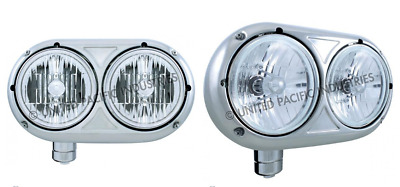 Outlaw Customs Peterbilt 359 304 Stainless Dual Crystal Headlights Ls 32194