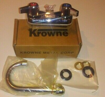 "Krowne 10-400 Faucet w/, 4"" BackSplash Mounted - NEW"