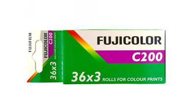 3 x Rolls FUJICOLOR 200 COLOUR  NEG  Film--35mm/36 exps--FRESH--expiry: 05/2021