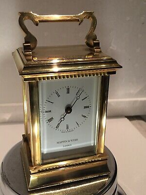 "Vintage ""MAPPIN & WEBB"" London, Heavy Solid Brass, Quartz Move, Clock Working"