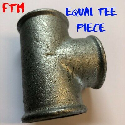 """Galv 3/4"""" Pipe Fittings Tee pieces equal T Malleable Iron For Air, Water & fuel"""