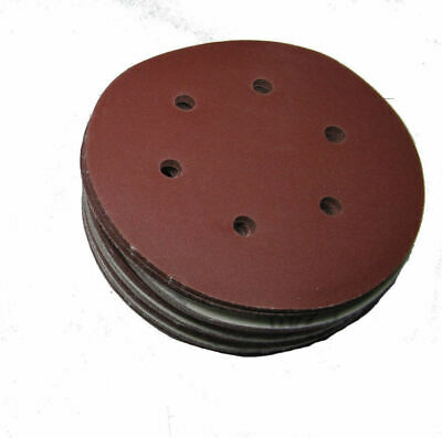 "Rdgtools 5"" Hook And Loop Sanding Discs X 25 P240 Grit 125Mm"