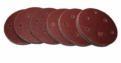 "Rdgtools 5"" Hook And Loop Sanding Discs ( 100 Per Pack ) P120 Grit 125Mm"