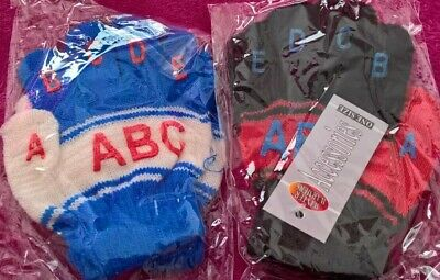 One pair of childs gloves ABC alphabet preschool BNWT Christmas stocking filler