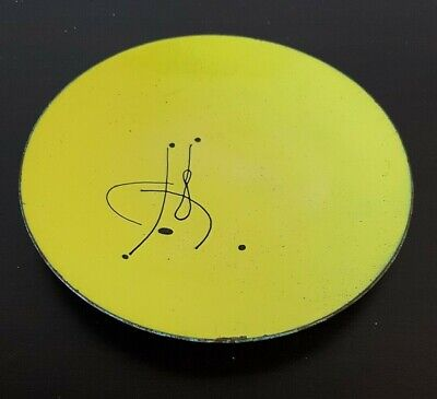"""Retro Mid Century Modernist  ABSTRACT ENAMEL on COPPER PLATE Pin Tray Dish 6"""""""