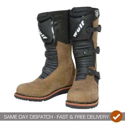 Wulfsport Hommes Adultes Moteur Moto Trial Bottes - Marron