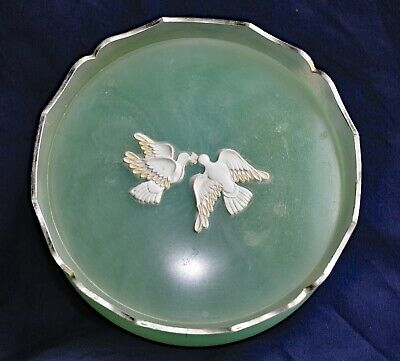 Vintage Powder Jar Avon Rapture Beauty Dust with Dove Decoration 1950s