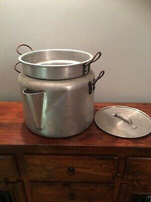 Vintage Heavy Duty Catering Double Sauce Pan 34 Cm High