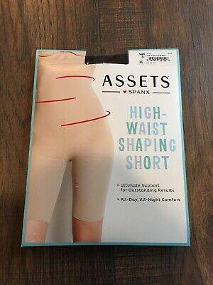 Assets by Spanx Women's Mid Thigh Super Control Shaper - Black - Size: 3 NEW1119