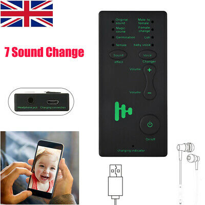 7 Different Sound Changes Voice Changer Device For XBOX//Phone//IPad//Computer UK