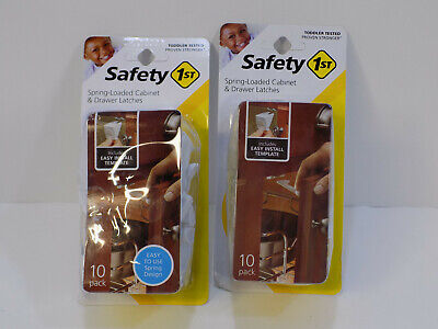 NEW 20 Safety 1st Spring-Loaded Cabinet & Drawer Latches Baby Child Proofing