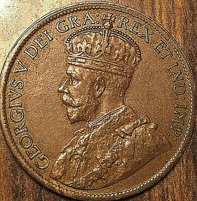 1919 CANADA LARGE CENT PENNY LARGE 1 CENT COIN - Fantastic example!