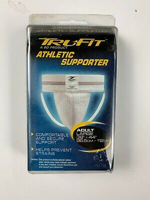 Athletic Supporter Jock Strap Large Sports Gear Men's Trufit White - 2004 NEW