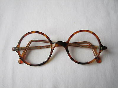 Quality Original 1930s/40s Vintage Round Tortoiseshell Spectacles / Glasses.
