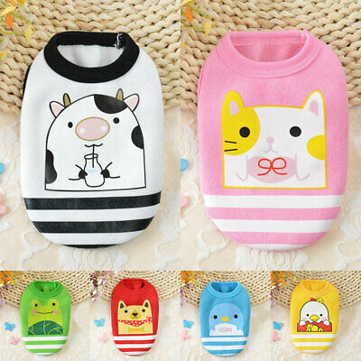 Cute Cartoon Winter Dog Clothes Puppy Dog For Small Dogs Cat Coat Chihuahua Vest
