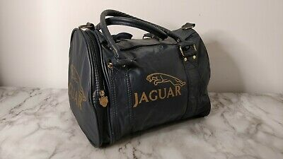 Retro Jaguar Blue and Gold Holdall Sports Gym Bag