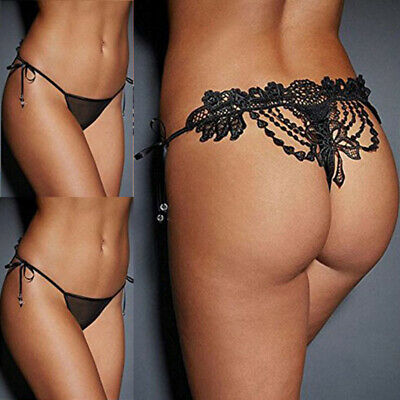 Underwear Panties Knickers Lace Briefs Lingerie G-String Sexy Women's w/ Thongs