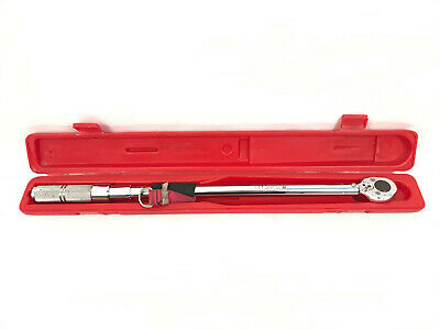 """Proto 6014CX 1/2"""" Drive Ratcheting Head Torque Wrench 50-250 Ft-Lbs + Case"""