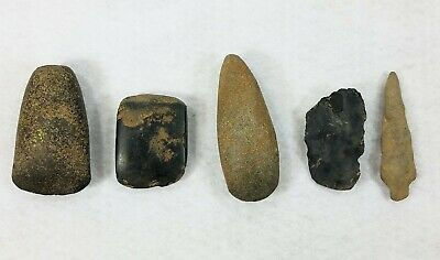 3 Ancient Stone Age Neolithic Ax Adze