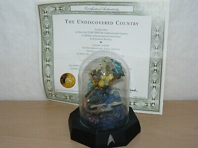 """Franklin Mint Star Trek The Undiscovered Country Limited Edition 5"""" 1996 art"""