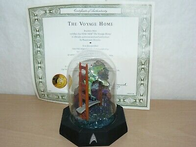 """Franklin Mint Star Trek The Voyage Home Limited Edition 5"""" 1996 Domed Glass"""