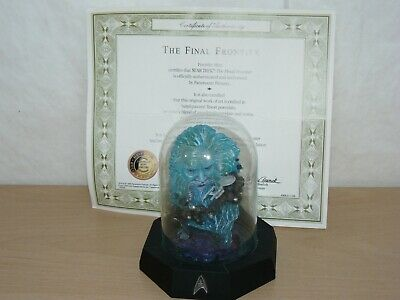 """Franklin Mint Star Trek The Final Frontier Limited Edition 5"""" 1997 Domed Glass"""