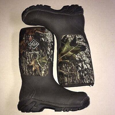 Muck Boot Company Woody Sport Hunting Boot Mossy Oak Size Mens 11.5 Women 12.5