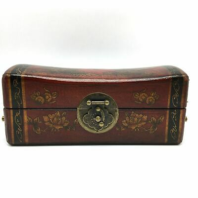 Fine Chinese Trinket Wooden Box Storage Box With Metal Lock and Metal Handles