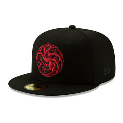 Game of Thrones HBO Authentic New Era House Targaryen 59FIFTY Fitted Cap - 8""