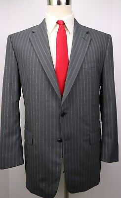 Hickey Freeman Madison Gray Dual Vented Two Button Wool Suit 43 Regular 38 29