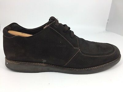 new lower prices excellent quality size 7 GEOX RESPIRA DARK Brown Suede Leather Fashion Sneakers Hi ...