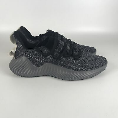 adidas Alphabounce Trainer Men's Shoes size 10.5 Black Grey Raw White BB9250