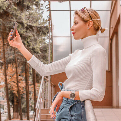 Women Knitted Soft Sweater Casual Warm Jumper Slim Fashion Elasticity Pullovers
