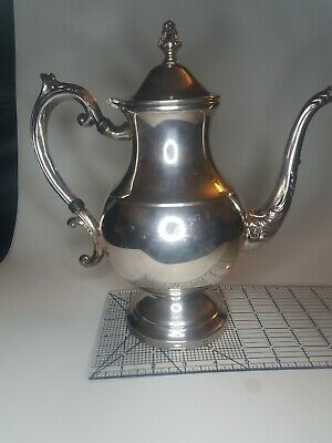 Vintage F.B. Rogers Silver Co Trademark 1883 Coffee Tea Pot Silver Plated Mint