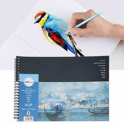 Watercolour Paper Art Artist Sketchbook Sketch Pad Journal Painting Supplies