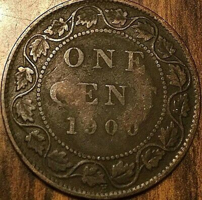 1900 H Canada Large Cent Penny 1 Cent