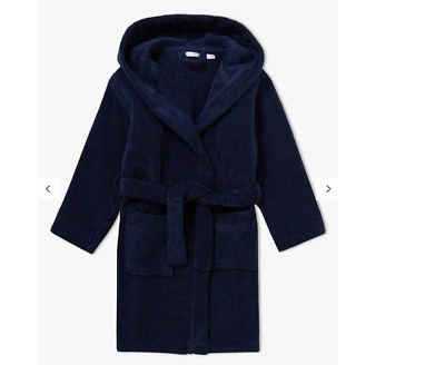 John Lewis & Partners Towelling Dressing Gown Navy 2 YEARS FREE P&P BEST PRICE