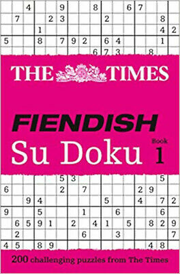 The Times Fiendish Su Doku Book 1: 200 challenging Su Doku puzzles, New, Gould,