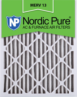 Nordic Pure 16x24x2 MERV 13 Pleated AC Furnace Air Filters 3 Pack, 3 PACK, 3