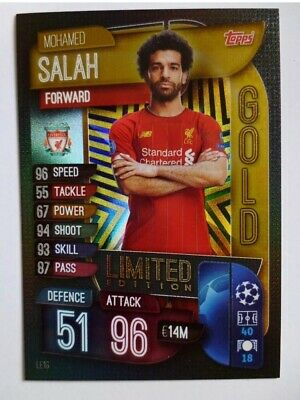 Match Attax 2019/20 Mohamed Mo Salah Gold Limited Edition New