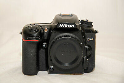 Excellent Condition Used Nikon D7500 20.9MP DSLR - Body w/ Battery and Charger