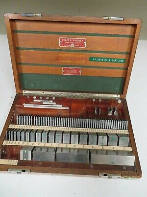 Pratt & Whitney/Hoke/Mixed 82 piece, Square, English Gage Block Set - NS20